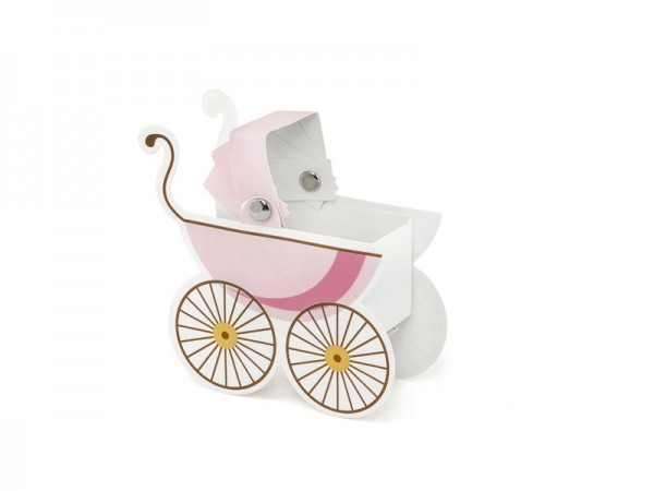 10 pink baby cart boxes 9.5 x 9.5 x 4cm