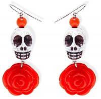 Tag Der Toten Ohrringe Rosy