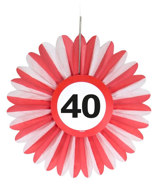 3 traffic sign 40 paper rosette 25cm