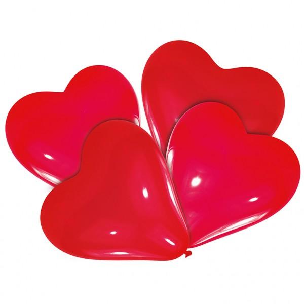 10 Herzballons Giulia Rot 40cm 1