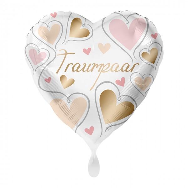 Balon foliowy serce pary marzeń 43cm
