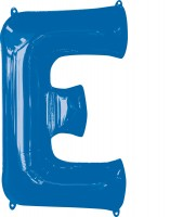 Folienballon Buchstabe E blau XL 81cm