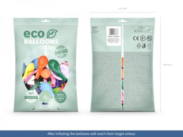 100 Eco metallic Ballons bunt 30cm