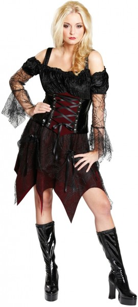Gothic bride costume women