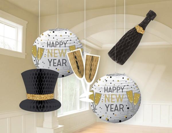 5 adornos de decoración New Year
