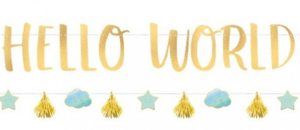 Oh Baby Hello World garland set 2 pieces
