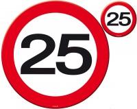 Verkehrsschild 25 Tischset 8-teilig