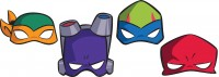 8 Ninja Turtles Adventures Masken