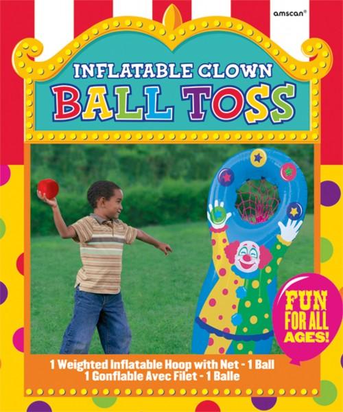 Partyspiel Aufblasbarer Zirkus Clown Basketballkorb