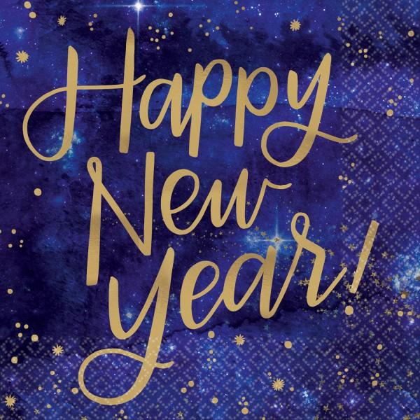 16 Shining New Year Servietten 25cm