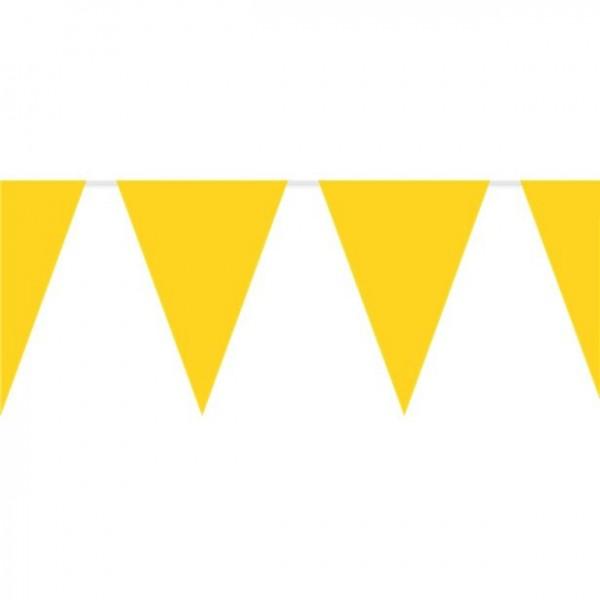 Giant plastic pennant chain yellow 10m