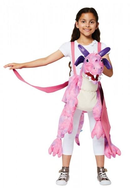 Roze draak ruiter kostuum voor kinderen