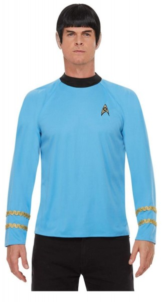 Star Trek uniform shirt voor heren blauw
