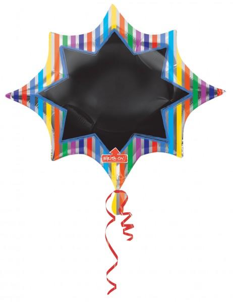 Ballon aluminium étiquetable étoile rayé