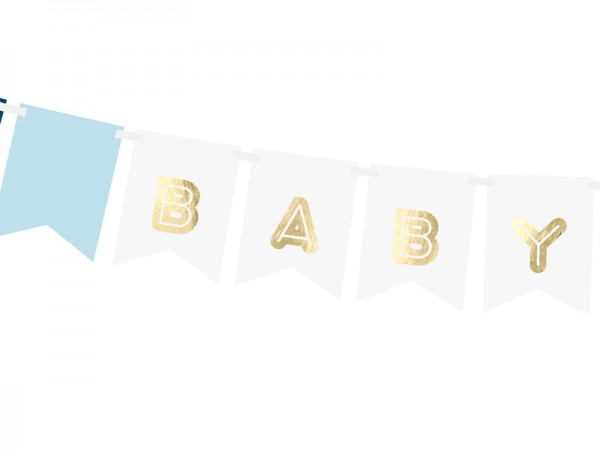DIY Baby Boy Girlande 1,6m