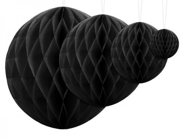 Decorazione a nido d'ape nera 40cm