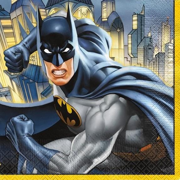 16 Batman Hero Servietten 33cm