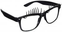 Lustige Party Brille Eyecatcher Mit Wimpern Schwarz