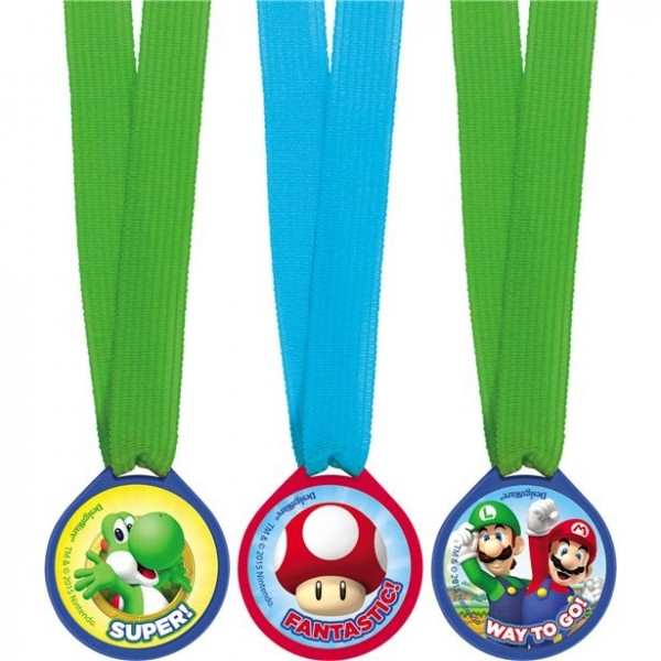 12 Super Mario World Mini Medaillen
