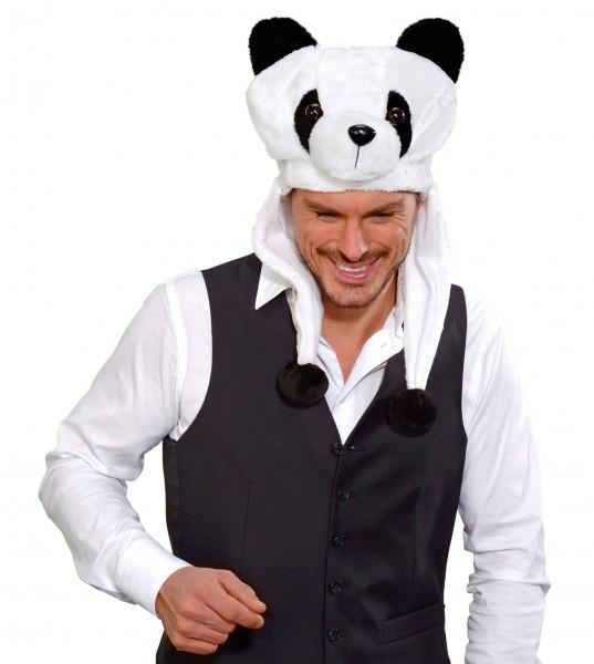 Panda Plüsch Mütze