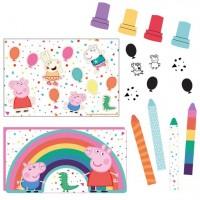 Peppa Wutz Rainbow Birthday Mitgebsel Set