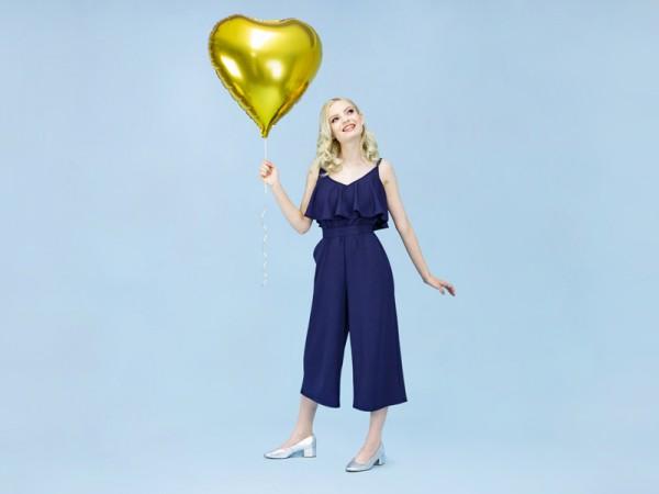 Herzilein Folienballon gold 61cm
