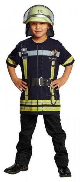 Feuerwehrmann Shirt Kinderkostüm