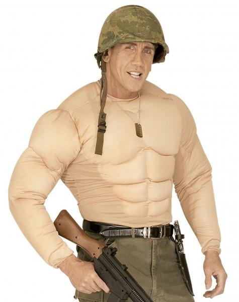 Padded muscle shirt for men