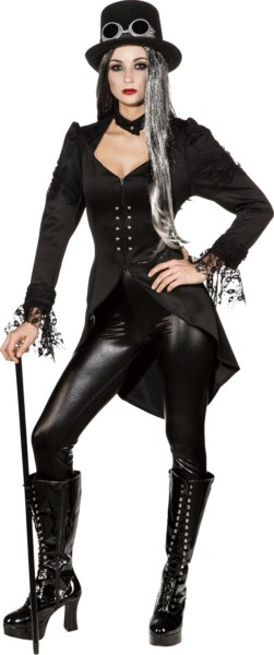 Dark Gothic tailcoat for women