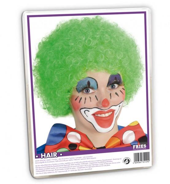 Perruque Afro Clown Vert