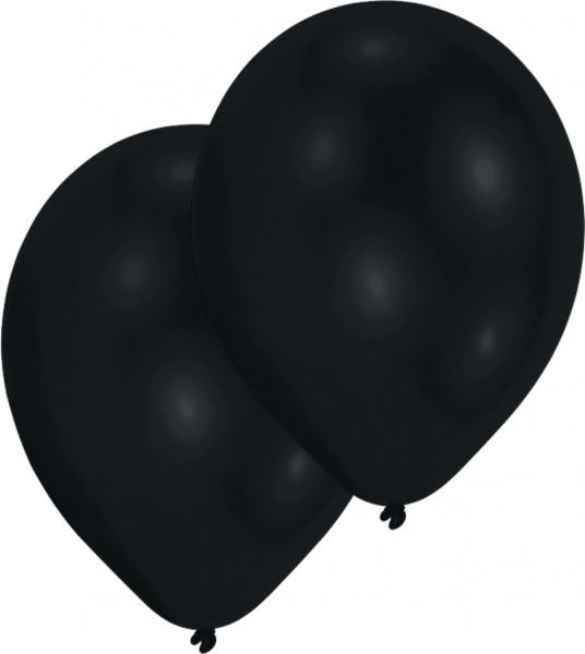 50er-Set Luftballon Schwarz 27,5cm
