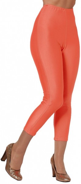 Neon oranje feest legging