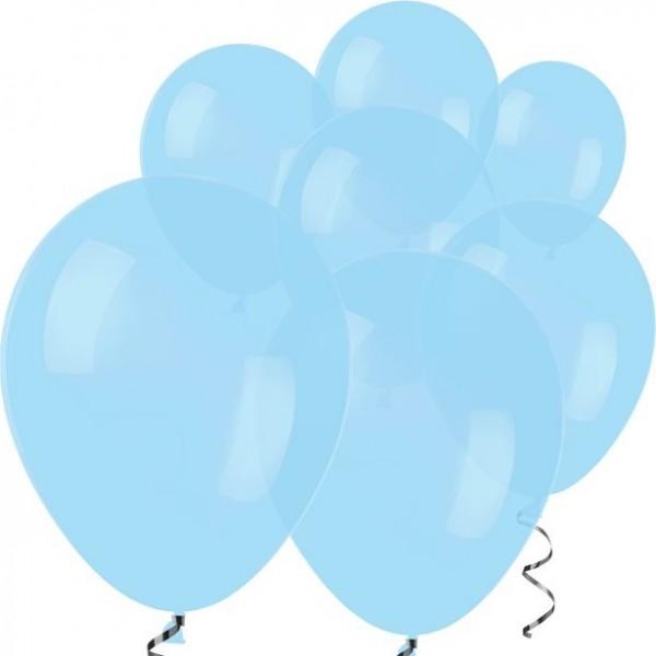 100 Hellblaue Luftballons Rumba 12,7cm