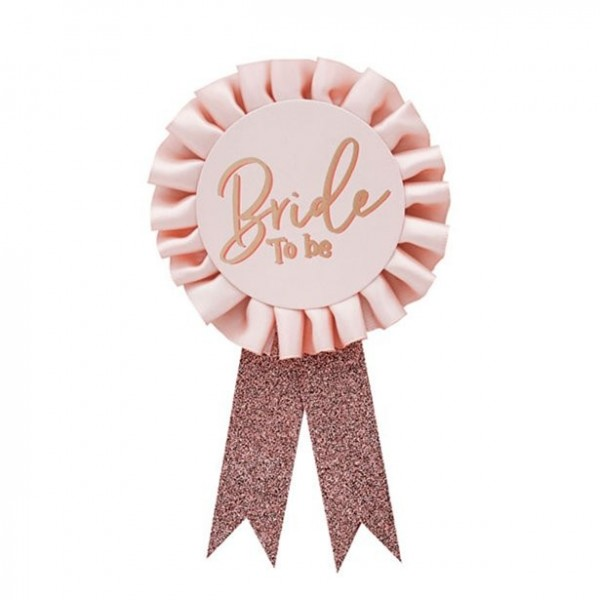 Pink Bride To Be badge