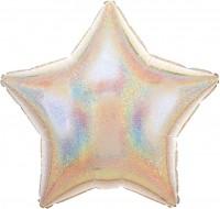 Sternballon Stardust silber