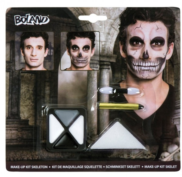 Set de maquillaje scary skeleton