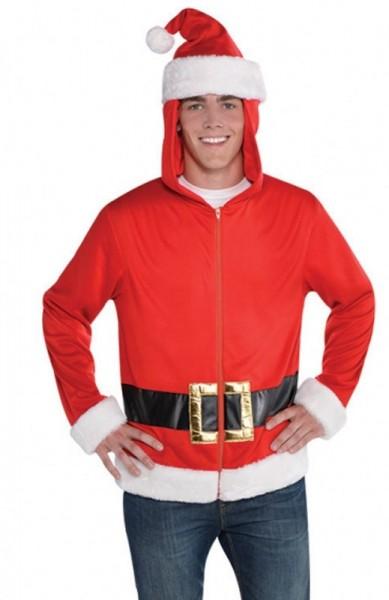 Sweat à capuche homme Santa Claus