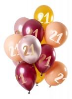 21.Geburtstag 12 Latexballons Pink Gold