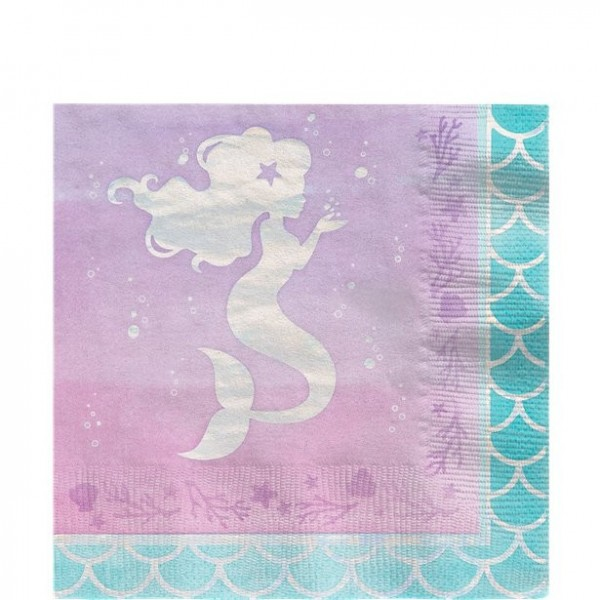 16 Mermaid Treasures Servietten 33cm