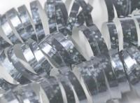 Silberne Holotastic Luftschlange 3,8m
