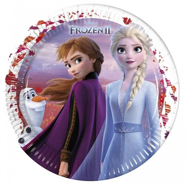 8 Frozen 2 Pappteller 23cm