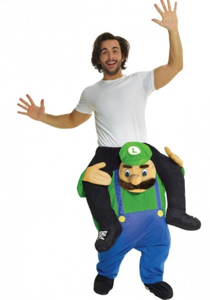 Starker Luigi Huckepack Kostüm