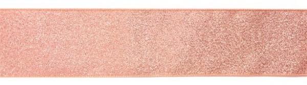 Satynowa falbanka do ciasta w kolorze różowego złota 1m