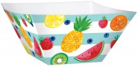 3 Tutti frutti Pappschüsseln 24cm