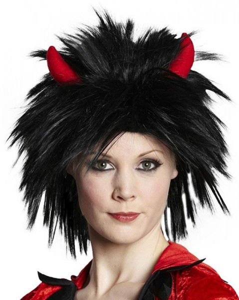 Groovy devil wig with horns