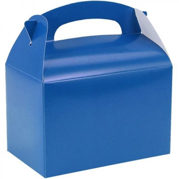 Coffret cadeau rectangulaire bleu 15cm