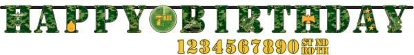 Guirnalda de camuflaje estilo militar personalizable