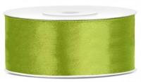25m Satin Geschenkband apfelgrün 25mm breit