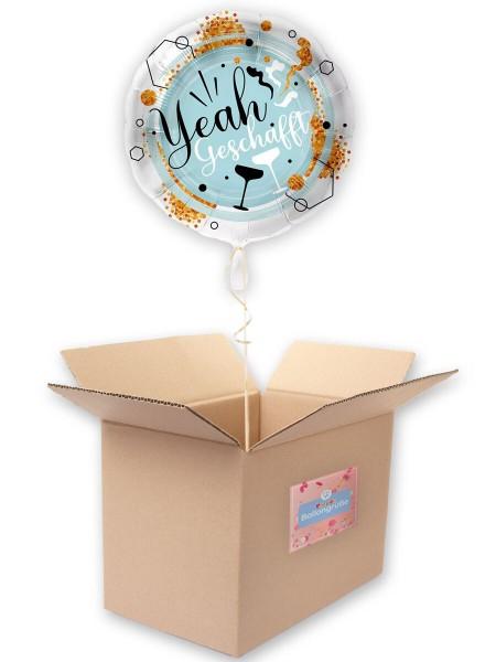 Yeah geschafft Folienballon 43cm