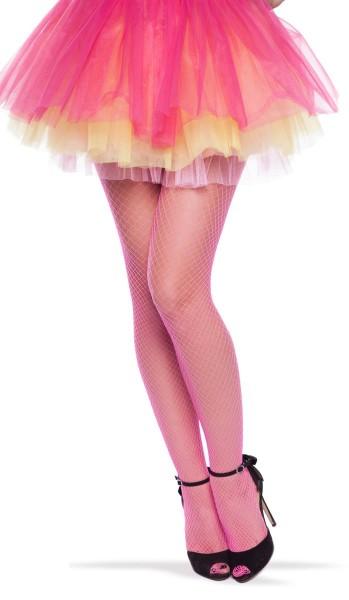 Netzstrumpfhose sexy neon pink